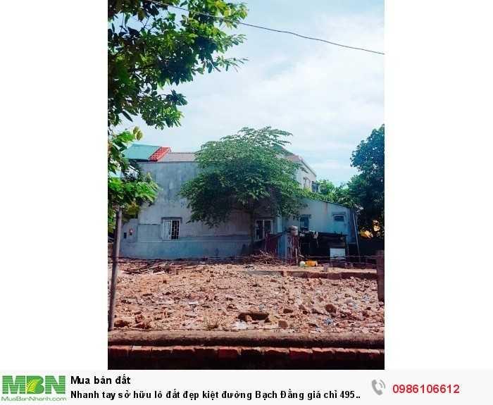 Nhanh tay sở hữu lô đất đẹp kiệt đường Bạch Đằng giá chỉ 495 triệu.