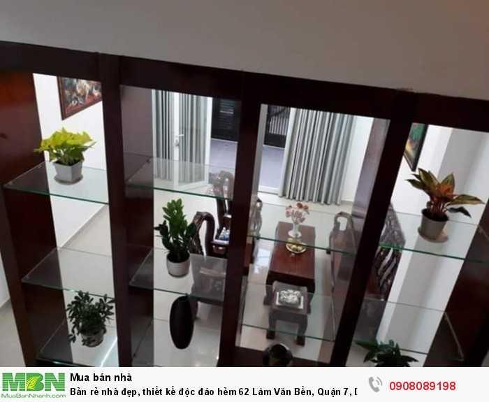 Bản rẻ nhà đẹp, thiết kế độc đáo hẻm 62 Lâm Văn Bền, Quận 7, DT 4.7x17, 3 tầng, sân thượng