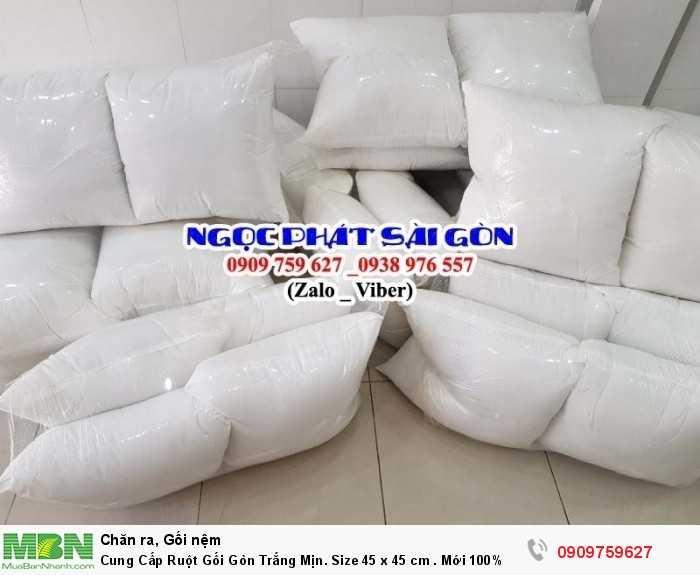 Cung Cấp Ruột Gối Gòn Trắng Mịn. Ruột Gối Sofa. Ruột Gối Tựa Lưng. Size 45  x 45 cm.0