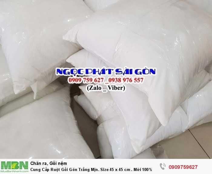 Cung Cấp Ruột Gối Gòn Trắng Mịn. Ruột Gối Sofa. Ruột Gối Tựa Lưng. Size 45  x 45 cm.2