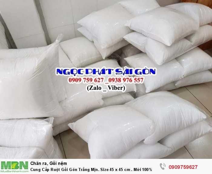 Cung Cấp Ruột Gối Gòn Trắng Mịn. Ruột Gối Sofa. Ruột Gối Tựa Lưng. Size 45  x 45 cm.1