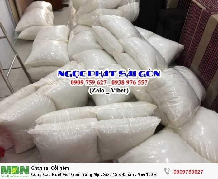 Cung Cấp Ruột Gối Gòn Trắng Mịn. Ruột Gối Sofa. Ruột Gối Tựa Lưng. Size 45  x 45 cm.3