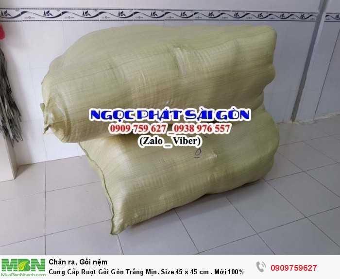Cung Cấp Ruột Gối Gòn Trắng Mịn. Ruột Gối Sofa. Ruột Gối Tựa Lưng. Size 45  x 45 cm.4