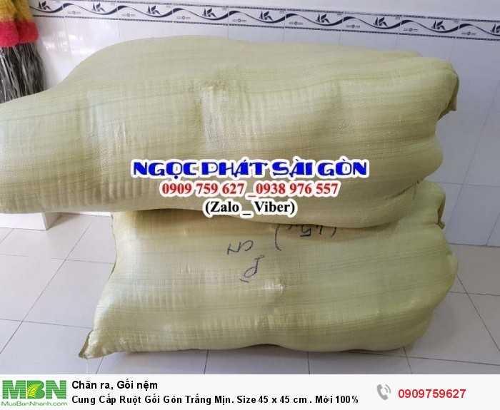 Cung Cấp Ruột Gối Gòn Trắng Mịn. Ruột Gối Sofa. Ruột Gối Tựa Lưng. Size 45  x 45 cm.5
