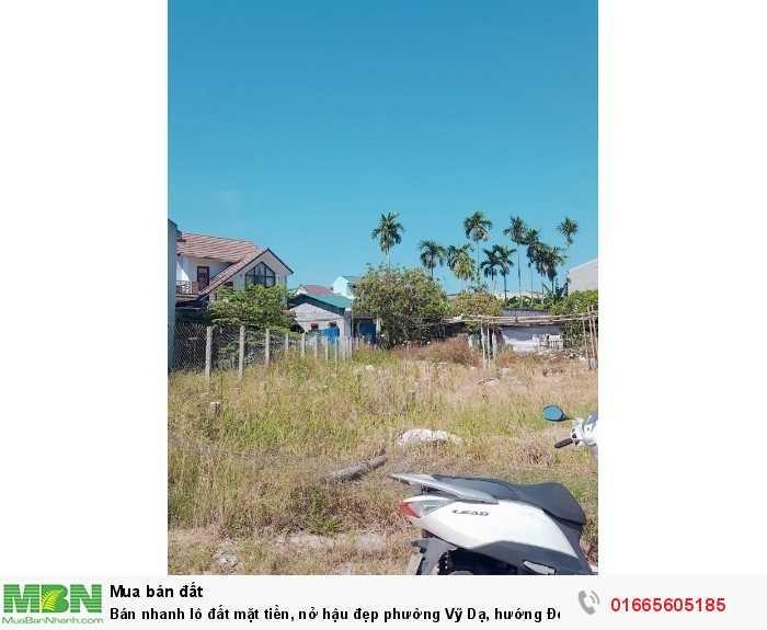 Bán nhanh lô đất mặt tiền, nở hậu đẹp phường Vỹ Dạ, hướng Đông Bắc, dt198m2.