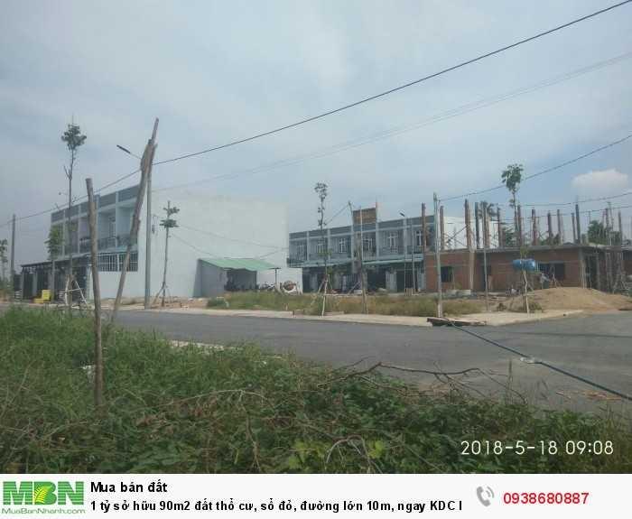 1 tỷ sở hữu 90m2 đất thổ cư, sổ đỏ, đường lớn 10m, ngay KDC hiện hữu