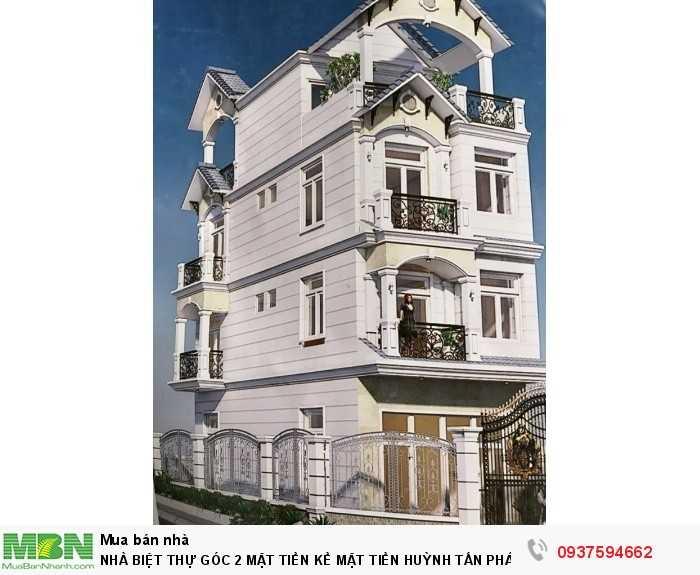 Nhà Biệt Thự  Góc 2 Mặt Tiền Kề Mặt Tiền Huỳnh Tấn Phát 10m,Dt:6,2x14,5m,Trệt 2 Lầu+Sân Thượng+5pn