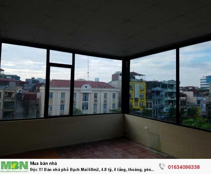Độc !!! Bán nhà phố Bạch Mai 68m2, 4 tầng, thoáng, yên tĩnh