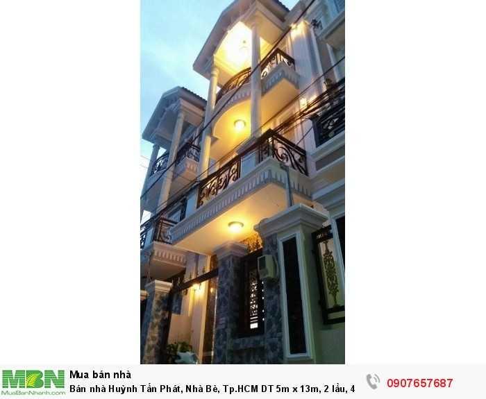 Bán nhà Huỳnh Tấn Phát, Nhà Bè, Tp.HCM DT 5m x 13m, 2 lầu, 4PN