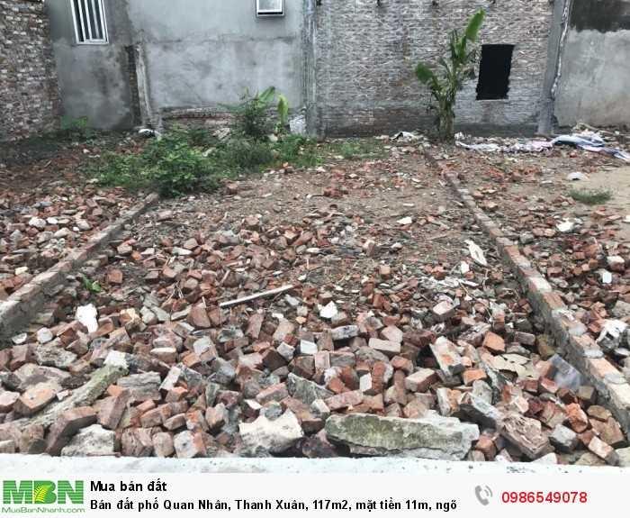 Bán đất phố Quan Nhân, Thanh Xuân, 117m2, mặt tiền 11m, ngõ ô tô 7 chỗ vào nhà, gần phố