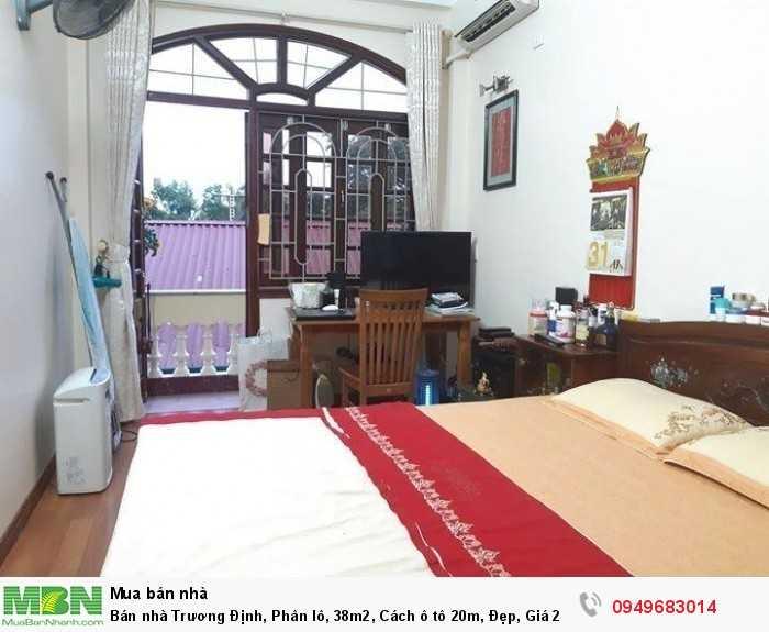 Bán nhà Trương Định, Phân lô, 38m2, Cách ô tô 20m, Đẹp