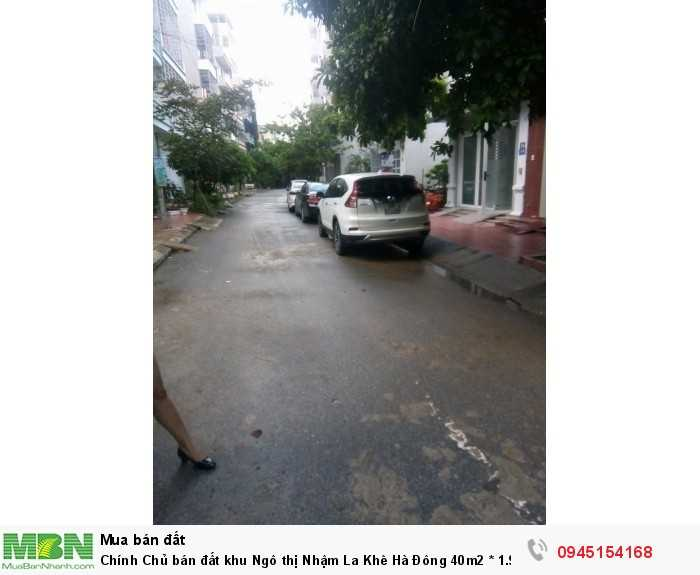Chính Chủ bán đất khu Ngô thị Nhậm La Khê Hà Đông 40m2 ô tô vào nhà