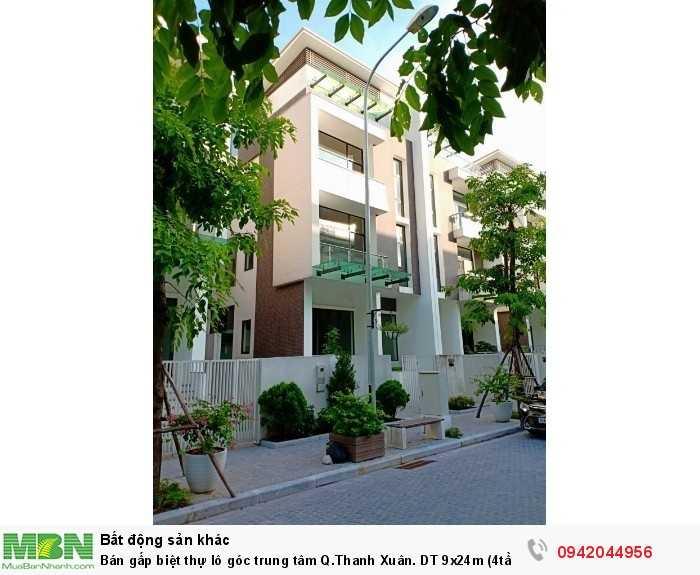 Bán gấp biệt thự lô góc trung tâm Q.Thanh Xuân. DT 9x24m (4tầng + hầm), Kinh doanh tốt.