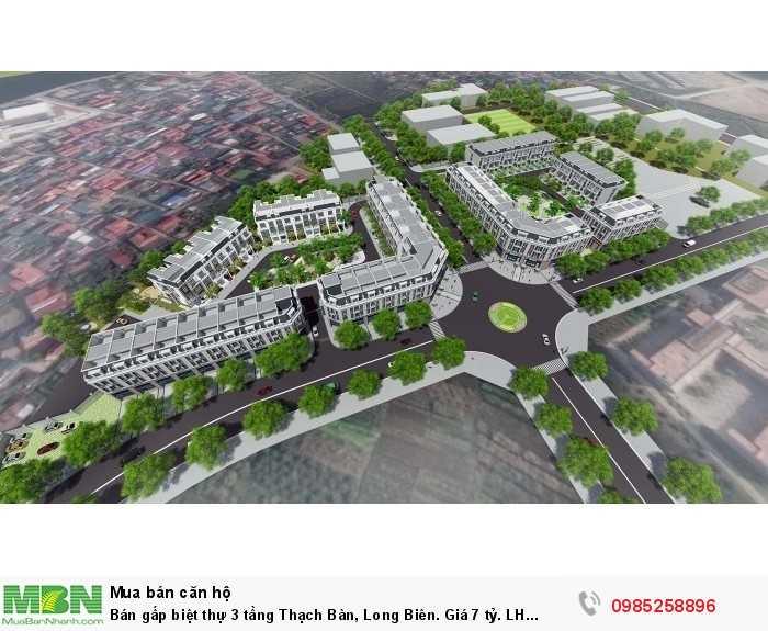 Bán gấp biệt thự 3 tầng Thạch Bàn, Long Biên