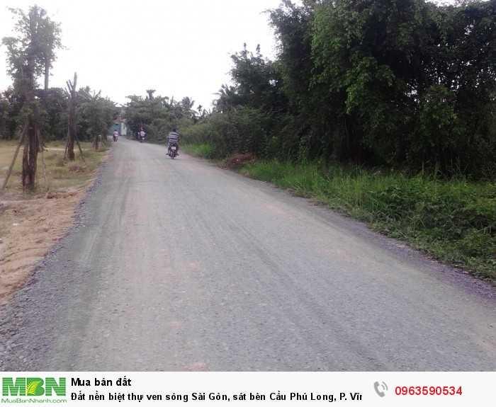 Đất nền biệt thự ven sông Sài Gòn, sát bên Cầu Phú Long, P. Vĩnh Phú, Thuận An, Bình Dương