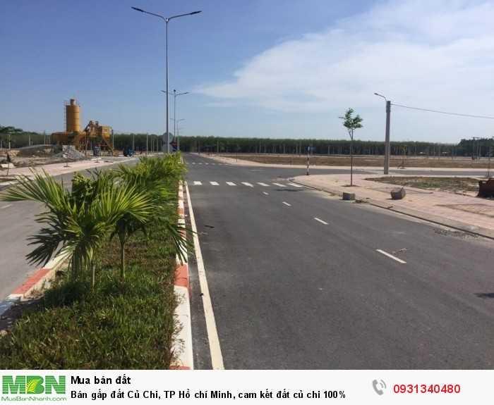 Bán gấp đất Củ Chi, TP Hồ chí Minh, cam kết đất Củ Chi 100%