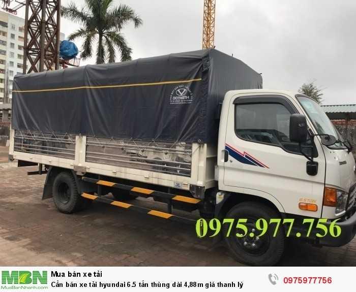 Cần bán xe tải Hyundai 6.5 tấn thùng dài 4,88m giá thanh lý