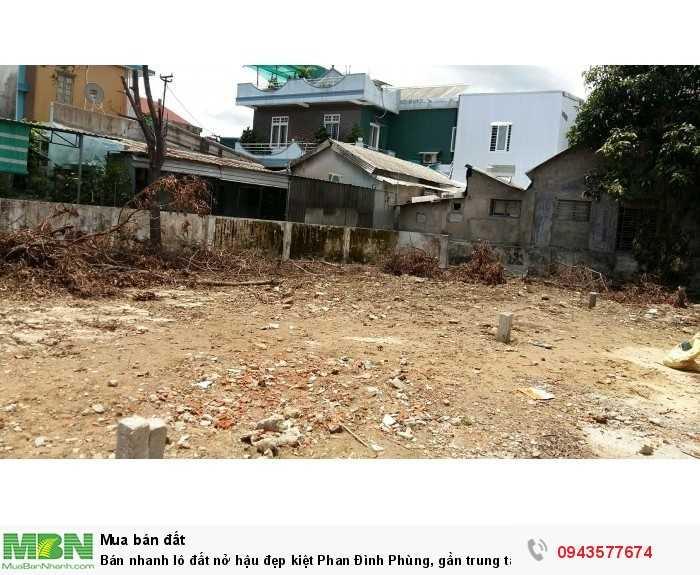 Bán nhanh lô đất nở hậu đẹp kiệt Phan Đình Phùng, gần trung tâm thành phố, giá chỉ 760tr.