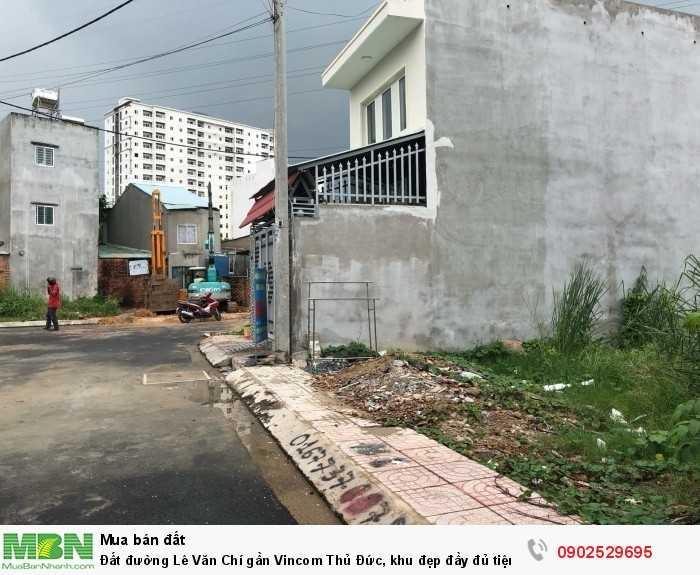 Đất đường Lê Văn Chí gần Vincom Thủ Đức, khu đẹp đầy đủ tiện ích