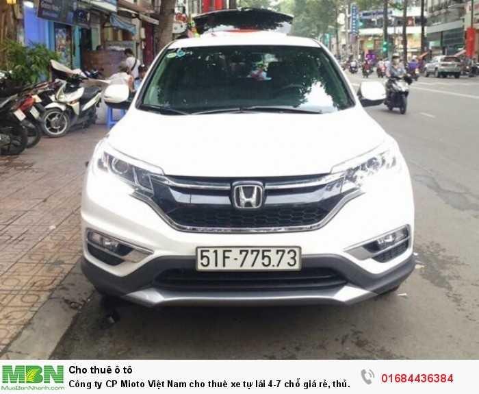 Công ty CP Mioto Việt Nam cho thuê xe tự lái 4-7 chỗ giá rẻ, thủ tục đơn giản