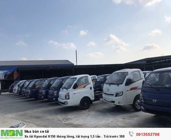 Xe tải Hyundai H150 thùng lửng, tải trọng 1,5 tấn - Trả trước 100 triệu, giao xe ngay 0