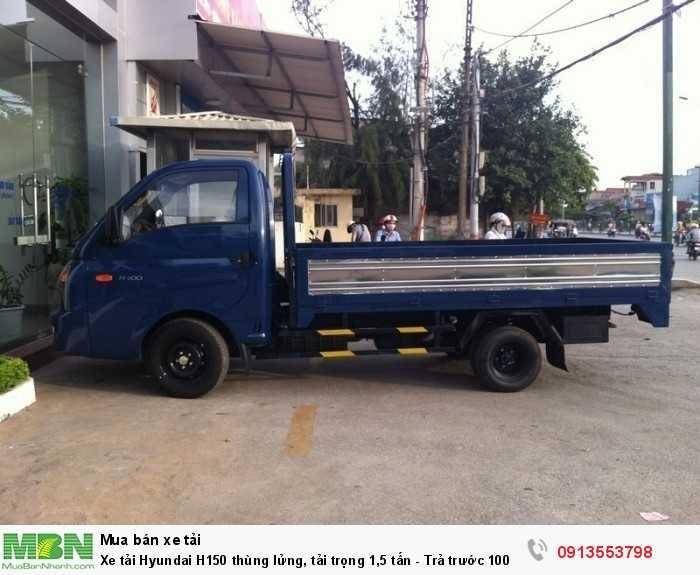 Bán xe tải Hyundai H150 thùng lửng, tải trọng 1,5 tấn - Trả trước 100 triệu, giao xe ngay - Hotline: 0913553798 (24/24)