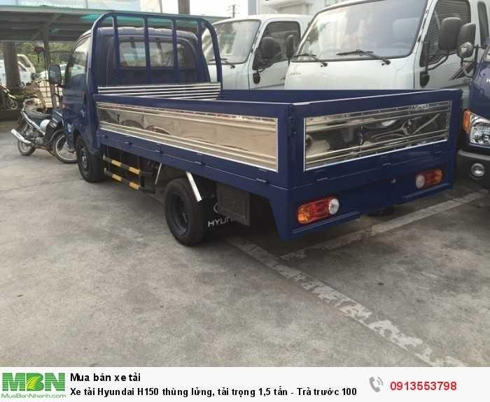Xe tải Hyundai H150 thùng lửng, tải trọng 1,5 tấn - Trả trước 100 triệu, giao xe ngay - Hotline: 0913553798 (24/24)