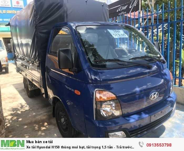 Xe tải Hyundai H150 thùng mui bạt, tải trọng 1,5 tấn - Trả trước 100 triệu, giao xe ngay 4