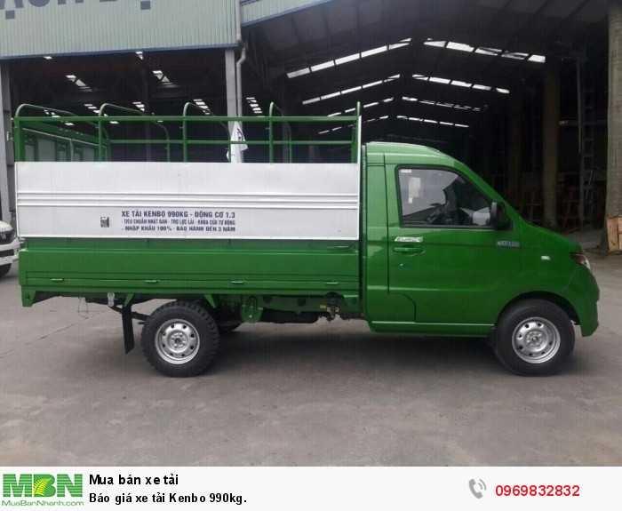 Báo giá xe tải Kenbo 990kg. 4