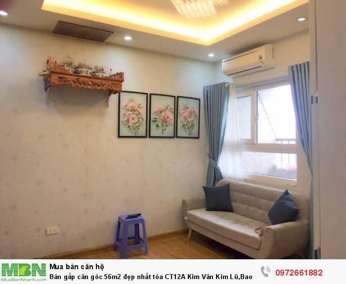 Bán gấp căn góc 56m2 đẹp nhất tòa CT12A Kim Văn Kim Lũ, Bao giá rẻ nhất toàn Vịnh bắc bộ với NT này