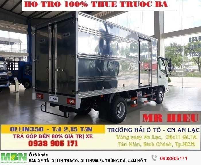 Bán Xe Tải Ollin Thaco- Ollin350.E4 Thùng Dài 4.4m Hỗ Trợ 100% Lệ Phí Trước Bạ Trong Tháng 2