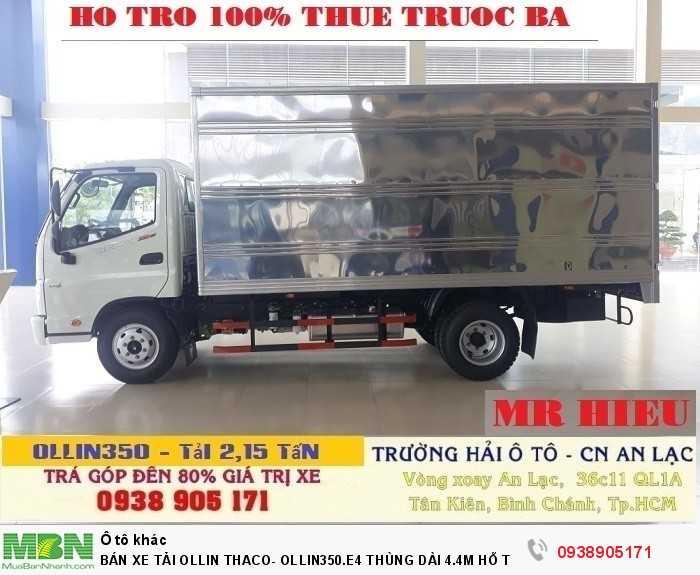 Bán Xe Tải Ollin Thaco- Ollin350.E4 Thùng Dài 4.4m Hỗ Trợ 100% Lệ Phí Trước Bạ Trong Tháng 4
