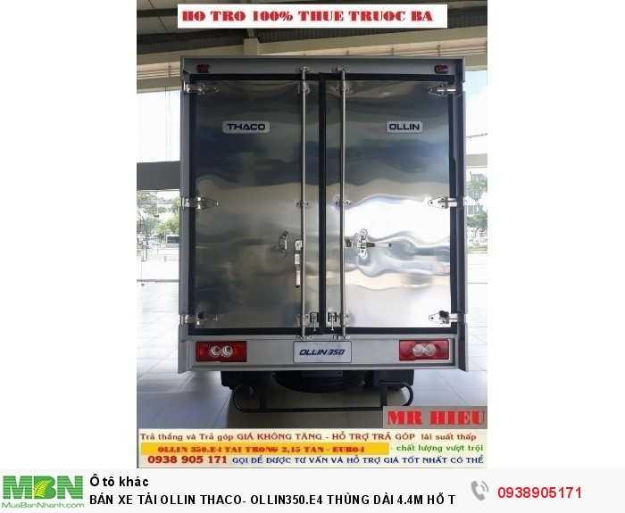 Bán Xe Tải Ollin Thaco- Ollin350.E4 Thùng Dài 4.4m Hỗ Trợ 100% Lệ Phí Trước Bạ Trong Tháng 5
