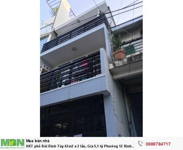 HXT phố Bùi Đình Túy 42m2 x 2 lầu, Phường 12 Bình Thạnh.