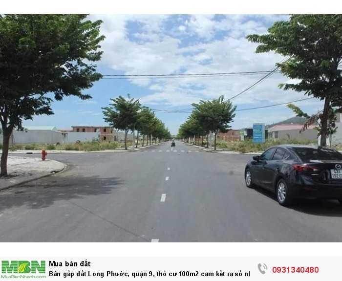 Bán gấp đất Long Phước, quận 9, thổ cư 100m2 cam kết ra sổ nhanh