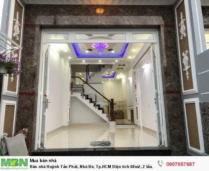 Bán nhà Huỳnh Tấn Phát, Nhà Bè, Tp.HCM Diện tích 68m2, 2 lầu, 4PN giá 3.85 tỷ