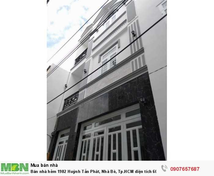 Bán nhà hẻm 1982 Huỳnh Tấn Phát, Nhà Bè, Tp.HCM diện tích 60m2, trệt 2 lầu giá 2.99 tỷ