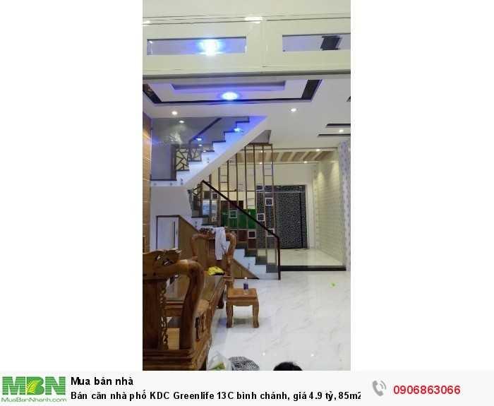 Bán căn nhà phố KDC Greenlife 13C bình chánh, giá 4.9 tỷ, 85m2, 1 trệt, 3 lầu, ảnh thật