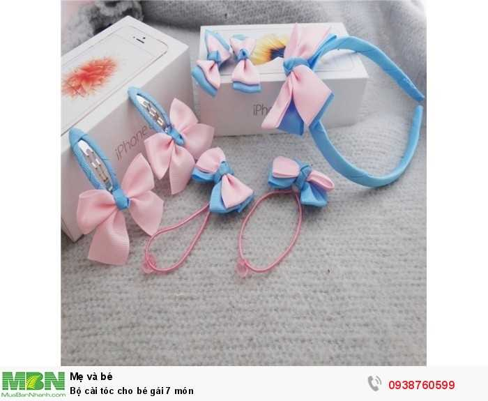 Bộ cài tóc cho bé gái 7 món4