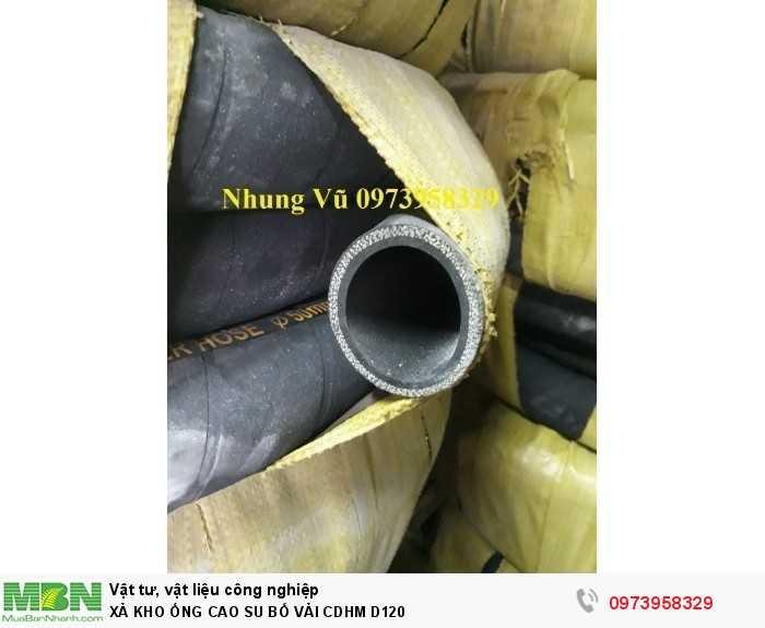 Ống cao su bố vải công Doanh Hùng Mạnh Phi 120 - ống cao su lõi thép D1200