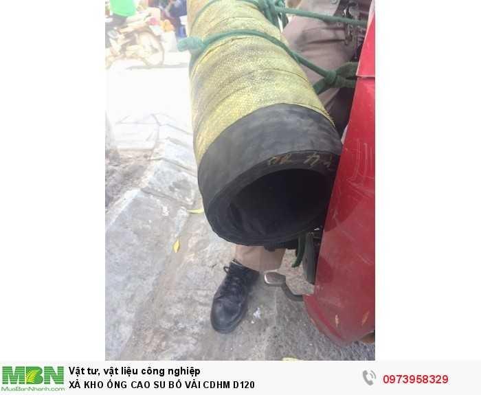 Ống cao su bố vải công Doanh Hùng Mạnh Phi 120 - ống cao su lõi thép D1201