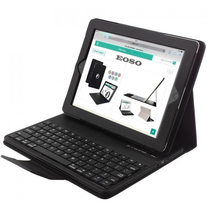 Bàn Phím Bluetooth Kiêm ốp Lưng giá đỡ Case keyboard iPad 2 3 41