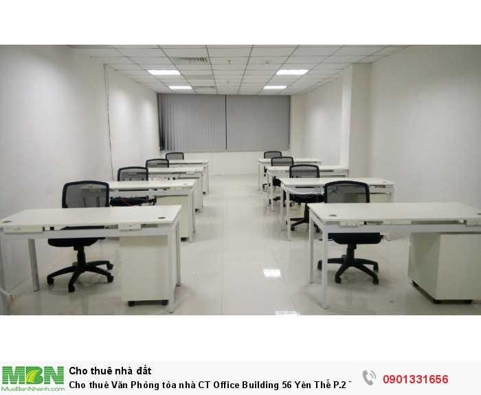 Cho thuê Văn Phòng tòa nhà CT Office Building 56 Yên Thế P.2 Tân Bình. DT 76m2