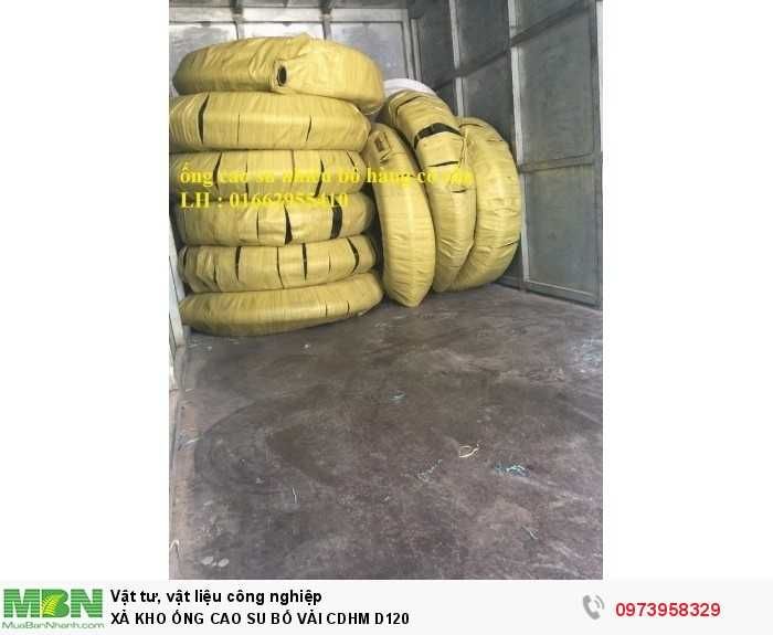 Ống cao su bố vải công Doanh Hùng Mạnh Phi 120 - ống cao su lõi thép D1205