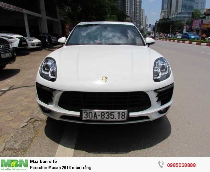 Porscher Macan 2016 màu trắng