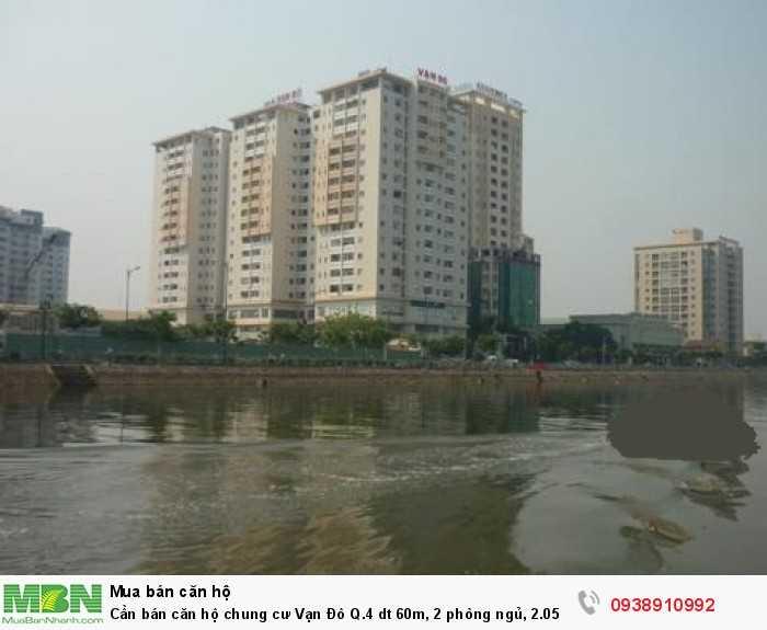 Cần bán căn hộ chung cư Vạn Đô Q.4 dt 60m, 2 phòng ngủ, 2.05 tỷ