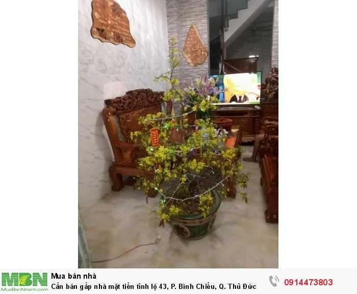 Cần bán gấp nhà mặt tiền tỉnh lộ 43, P. Bình Chiểu, Q. Thủ Đức