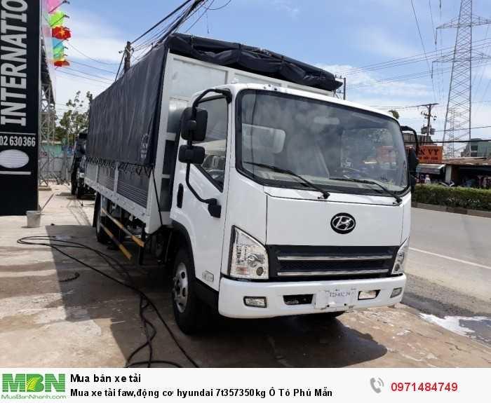 xe tải faw,động cơ hyundai 7t357350kg Trọng lượng bản thân có thùng mui bạt: 4.340 kG
