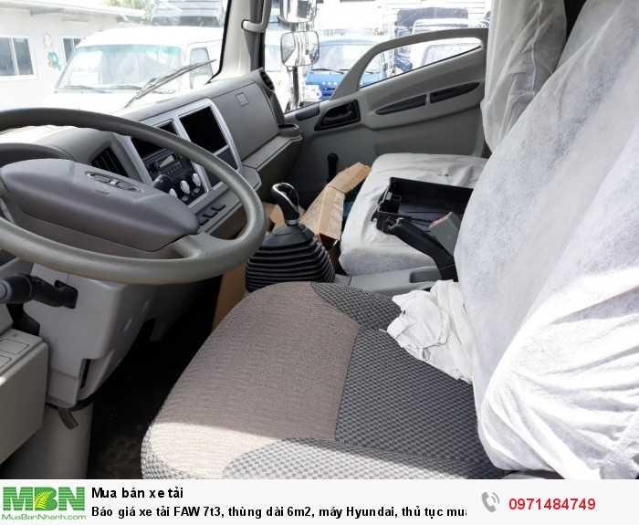 Báo giá xe tải FAW 7t3, thùng dài 6m2, máy Hyundai, thủ tục mua trả góp nhanh, giao xe ngay! -   Ô Tô Phú Mẫn SĐT: 0971 484 749