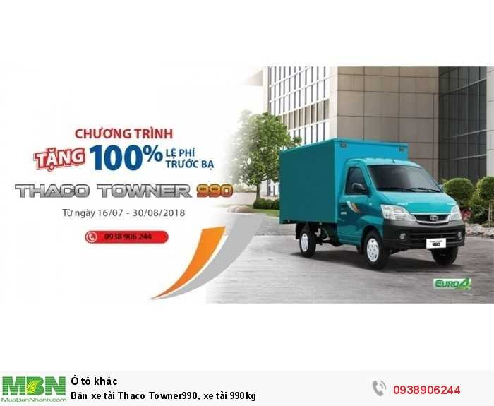 Bán xe tải Thaco Towner990, xe tải 990kg
